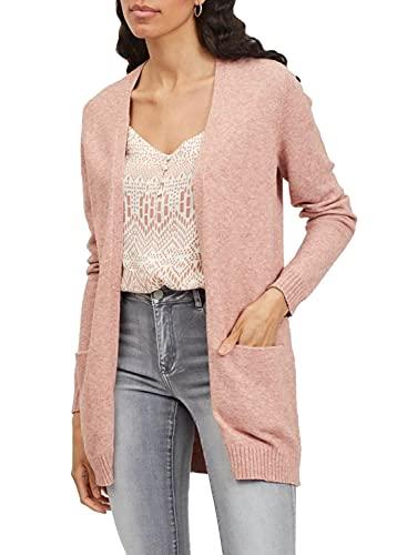 Vila Clothes Damen VIRIL Open L/S Knit Cardigan-NOOS Strickjacke, Old Rose, XS