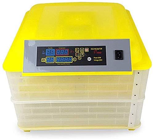 ZJWN Incubadora, 112 Huevos Automáticos Incubatores Digitales con Giro automático de Huevos Control automático de Temperatura y Humedad, para Pollos, Patos, Gansos en casa,112 Eggs