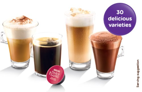 Nescafe Dolce Gusto Mini Me Automatic Coffee Capsule Machine Indigo/ Dark Grey by Krups