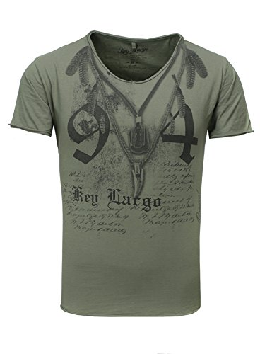 KEY LARGO Heren T-Shirt Native Chain Rasierklinge 94 Feder Zahn V-hals