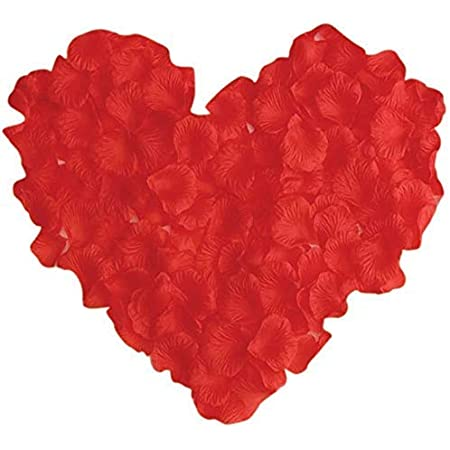 Cute Critters Artificial Silk Rose Petals Decoration Wedding Party (Red, 300pcs)