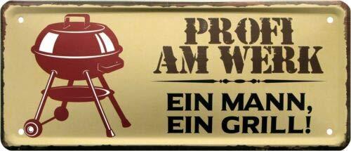 Profi aan de fabriek - EEN man, EEN grill 28x12 deco metalen bord 2002