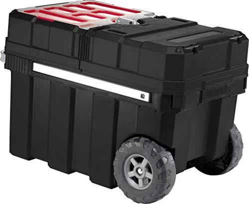 Keter 17191709 Werkzeugwagen Master Pro Serie Masterloader, Kunststoff, Schwarz/Rot