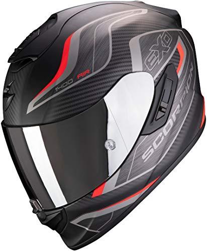 Scorpion Herren NC Motorrad Helm, Schwarz/Rot, M
