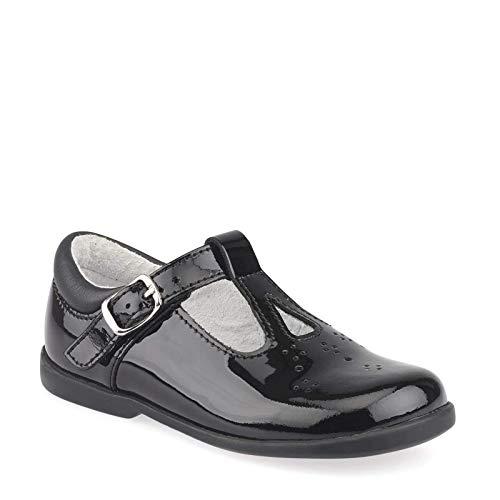 Mädchen Startrite Cutout Detaillierte T-Bar Schuhe Swirl, Schwarz - schwarzer Lack - Größe: 25 EU