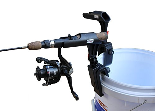 Brocraft Ice Fishing Bucket Rod Holder/Ice Fishing Shelter Rod Holder/Ice Fishing sled Rod Holder