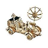 GLLP Puzzle de Bricolaje a Mano montado Solar Lunar Rover Rover Hacer Madera Tridimensional Rompecabezas de Juguete de Regalo de cumpleaños (Color : Lunar Rover)