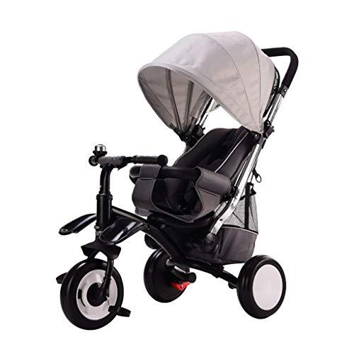 Triciclo Trike Triciclo triciclo, multi-función de los Niños 3-en-1 Triciclo, 3-6 años de edad del bebé al aire libre Triciclo ruedas sin aire, 3 colores, 50x78x100cm (color: rojo) ( Color : Gray )