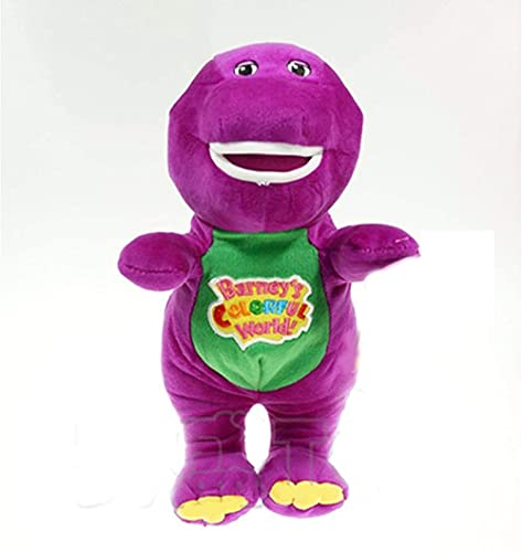 NC001 Purple Dinosaur Barney Doll Singing Music Bear Children Plush Toy Kid Stuffed Toy Barney The Best Gift 30cm