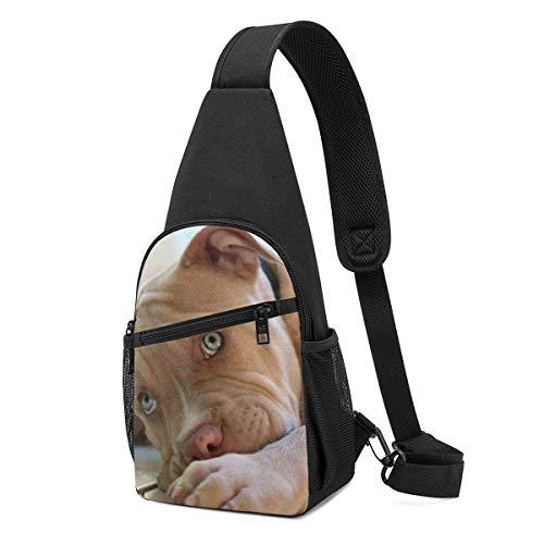 Hdadwy Lonely Pit Bull Hombro Mochila Sling Chest Bag Crossbody Bag Cover Pack Mochila