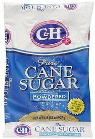 C&H, Pure Cane, Powdered Sugar, 32oz Bag (Pack of 2)