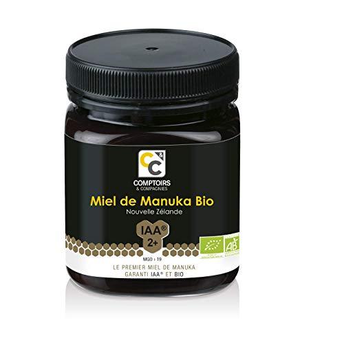 Comptoirs et Compagnies | Miel de Manuka Bio et Actif | IAA2+ (MGO19+) | 250 Grammes