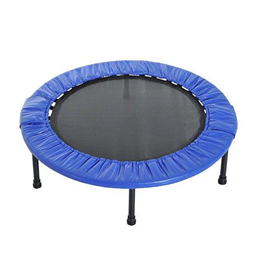 homcom Tappeto Trampolino Elastico per Fitness Uso Interno ed Esterno in PP, PVC Φ101.5 x 22.5cm