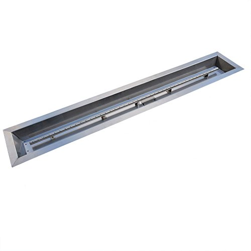 Stanbroil Stainless Steel Linear Trough Drop-in Fire Pit Pan and Burner 72 x 6-Inch