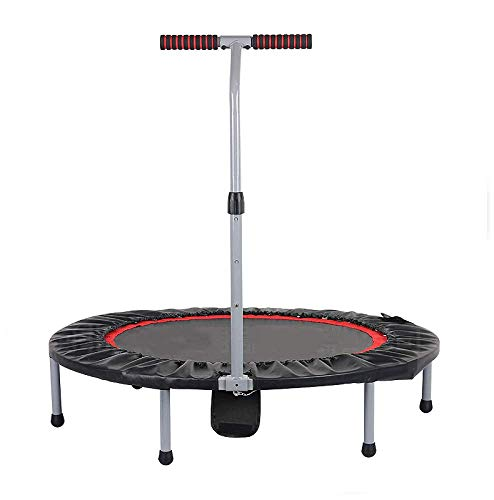 Foldable Fitness Trampoline, 40-inch Adult Home Fitness Trampoline Children Jumping Bed, 3 Adjustable Handles, Load-bearing 150kg(Rebounder Trampoline) Fitness