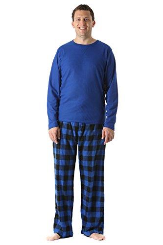 #followme 45910-1C-XXL Polar Fleece Pajama Pants Set for Men/Sleepwear/PJs