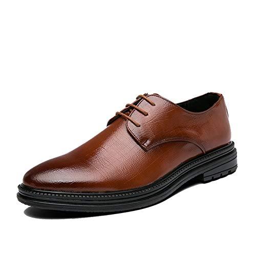 Zapatos de Vestir para Hombre, Zapatos Derby Retro de tacón bajo, Zapatos...