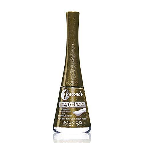 Bourjois 1 Seconde Texture Gel Nail Lacquer 57 KAKIDYLLIC (Blister) Mixte, Noir, Estándar