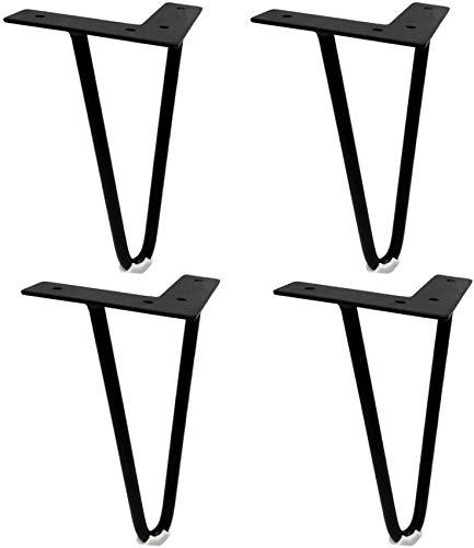 liliyda 4 Pieds De Meuble Pieds De Meuble Solides Pieds D'Armoire Pieds De Table Pieds De Table Pieds De Canapé Lit Commodes MatéRiel De Table Basse Accessoires De Bricolage, Noir