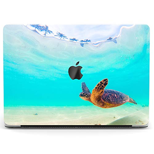 Wonder Wild Case Compatible with MacBook Air 13 inch Pro 15 2019 2018 Retina 12 11 Apple Hard Mac Protective Cover 2017 16 2020 Plastic Laptop Print Sea Turtle Ocean Blue Cute Water Swimming Summer