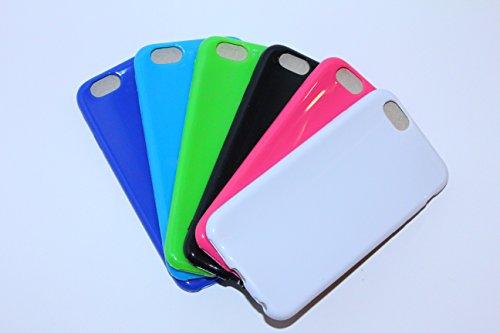 iPhone Silikon Hülle, Weiß,blau, Hellblau, Grün, Pink, Schwarz (I-Phone 6/6s, Blau)