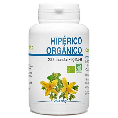 Hierba de San Juan - Hipérico Orgánico - 250mg - 200 cá