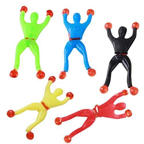 Toyvian 30 unids Elástico Surtido de Juguetes Pegajosos Incluyendo Manos Pegajosas Escalador de Pared Hombres Martillos Pegajosos Novedad Juguete Divertido para Favor de Fiesta Regalo de los Niños