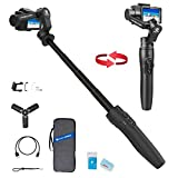 3-Axis Action Camera Gimbal Stabilizer for GoPro Hero 8/7/6/5, WiFi Connection, Handheld Gimbal Selfie Stick for SJCAM YI-CAM, 18cm Extendable Pole Portrait Mode with Tripod FeiyuTech Vimble 2A