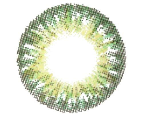 Matlens - GEO magic color Farbige Kontaktlinsen ohne Stärke natürlich grün green World TriColor circle lens CM-903 2 Linsen 1 Kontaktlinsenbehälter 1 Pflegemittel 50ml
