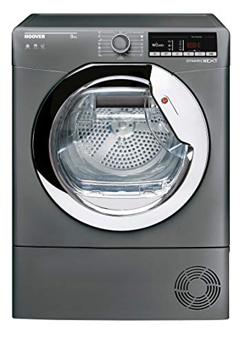 Hoover DXOC9TCER Freestanding Condenser Tumble Dryer with Aquavsion, WiFi Connected, 9Kg, Graphite