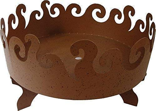 linoows Feuerschale, Gartenfeuer, Lagerfeuer Schale mit 4 Beinen, Eisen Naturrost 50 cm