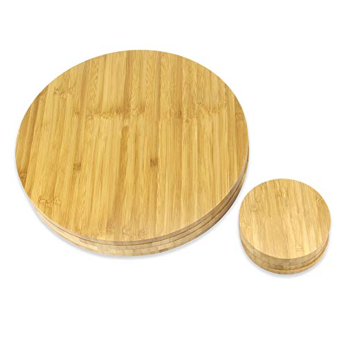 Set of 4 Circular Bamboo Placemats and Coasters | Dining Table Mats | Eco-Friendly Placemat Set | Serveware | Dining Table Set | M&W