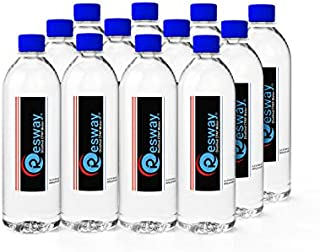 Resway Distilled Water   Travel Bottles for Resmed, Respironics Machines, Personal Humidifier   Medical Supplies for Vacation   Travel-Friendly, Clean   16.9oz H2O (12 Pack)