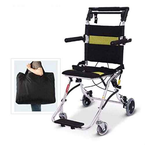 Silla de Ruedas portátil, Plegable, súper Ligero, Transporte de Viaje, Anciano, niño, discapacitado, Carrito, Scooter, portátil