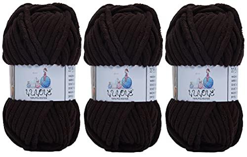 YUYOYE Manta de hilo para ganchillo y tejer, lana de chenilla gruesa, (17-3 unidades)