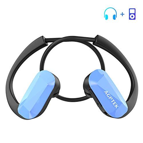 AGPTEK Auriculares Reproductor MP3 8 GB, Todo en Uno, Música sin Pérdida, Diferentes Tamaños...