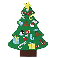 Wosume Ornamenti Natalizi, Tessuto in Feltro di qualità Albero di Natale in Feltro, abilità motorie Fini Albero di Natale Fai-da-Te Coordinazione Occhio-Mano 27 Pezzi Ornamenti per Soggiorno di #1