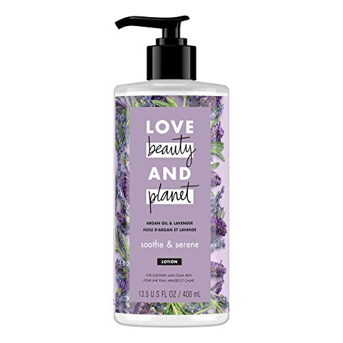 Love Beauty & Planet Body Lotion Argan Oil and Lavender 13.5 oz
