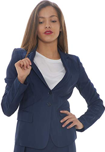 PEPE Blazer Dames Striature Tono-Lapis Blue-42