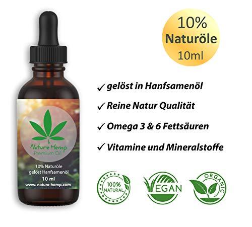 Nature Hemp Hanfsamenöl mit 10% Naturölen, 10ml | Naturprodukt aus Österreich