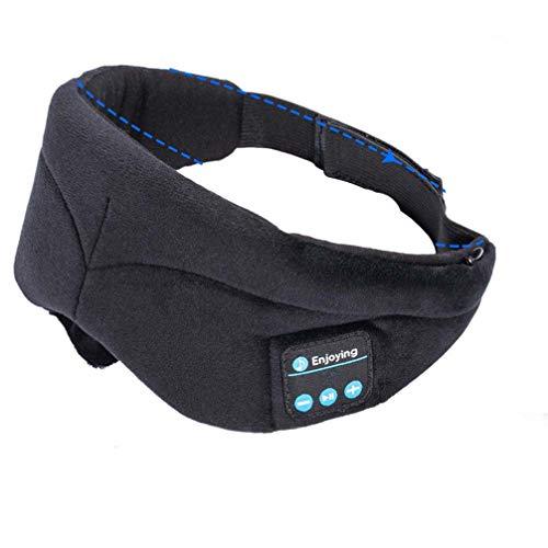 Kabellose Bluetooth Augenmaske Bluetooth Kopfhörer Schlafen Augen Maske Wireless Music Bluetooth Schlaf Eye Shades Headset Unterstützung Freisprecheinrichtung Waschbar,Schwarz