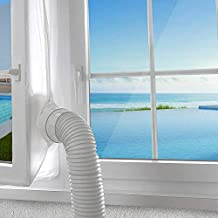 AGPTEK 400cm Window Seal for Portable Air Conditioner and Tumble Dryer, 158inch Mobile AC Unit Soft Cloth Sealing, Stop Hot Air with Adhesive Fastener-no Need for Drilling Holes for Tilt Window