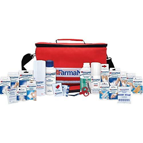 FARMAMED Kit Primo Soccorso Professionale di 250 pezzi, Borsa Medica Sportiva, Kit Pronto Soccorso per auto, casa, viaggio, sport