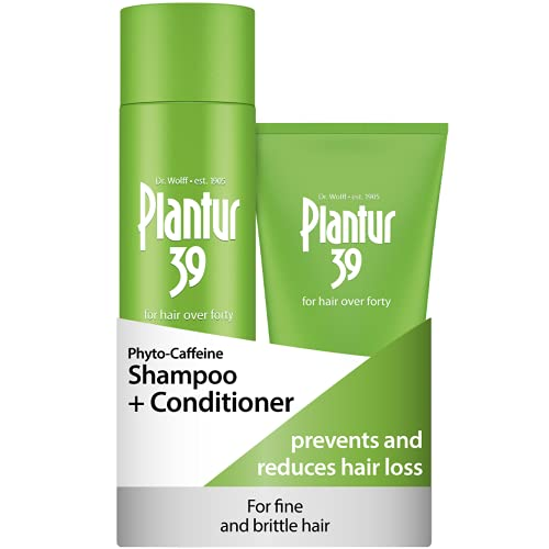 Plantur 39 Caffeine Shampoo and Conditioner Set Prevents and Reduces Hair Loss   For Fine Brittle Hair   Unique Galenic Formula Supports Hair Growth   Set of 250ml Shampoo and 150ml Conditioner