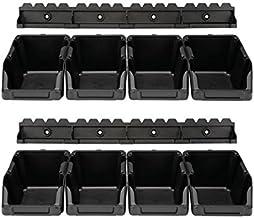 PEREL - OMSB10SET opslagkast, 103 mm x 165 mm x 75 mm afmetingen, zwart (8-pack) 176895
