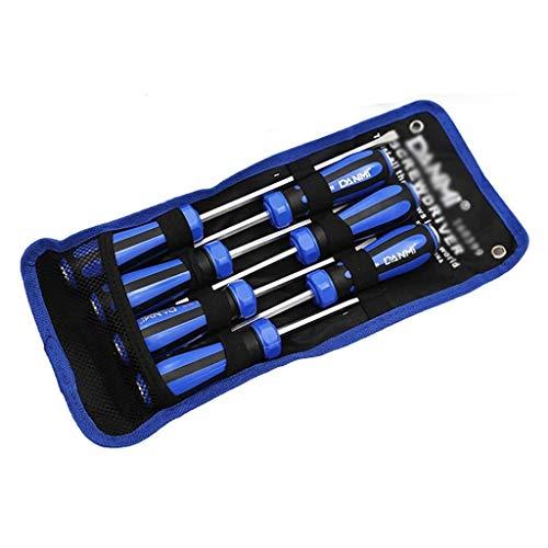SPNEC 7pcs Destornillador Set Destornillado Magnético Destornillado bits Tornillo de precisión Manija Antideslizante Reparación Herramientas de Mano