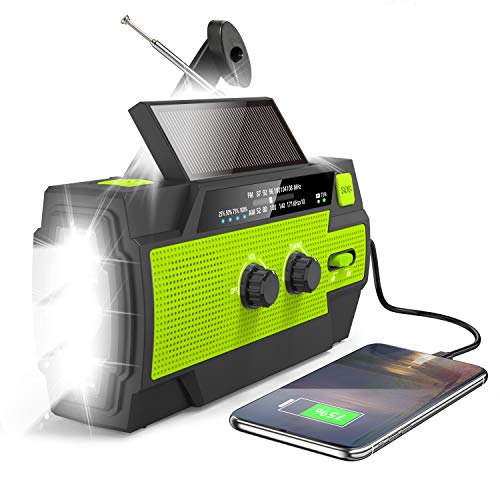 Greadio Wind up Flashlight Radio, Emergency AM/FM Portable Radio with...