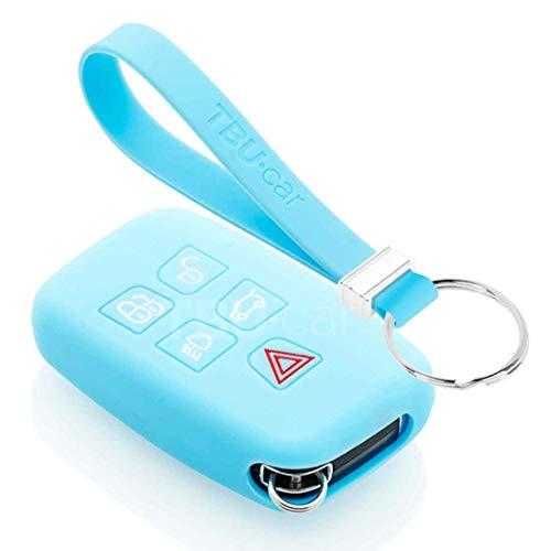 TBU car Funda Carcasa Llave Compatible con Range Rover - Funda de Silicona - Cover de Llave Coche - Azul Claro