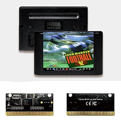 Yuva John Madden Football '92 EUR Label Flashkit MD Electroless Gold PCB-Karte für Sega Genesis Megadrive Videospielkonsole (PAL-E)