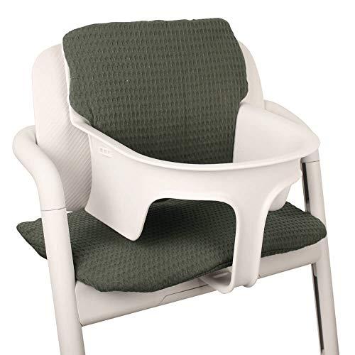 UKJE Baby zitkussen stoelverkleiner voor Cybex Lemo gecoat Praktisch en dik gewatteerd groen machinewasbaar 2-delig Öko-Tex katoen